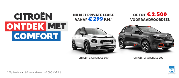 Citroën Private Lease - Juli 2020